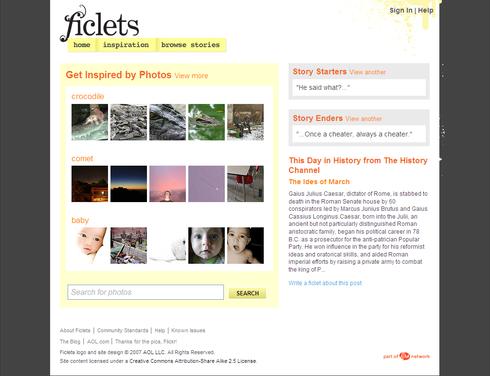 Ficlets inspiration screen-shot