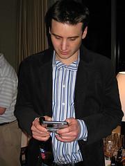 Frank twittering