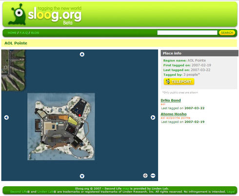 Sloog.org AOL Pointe screen-shot
