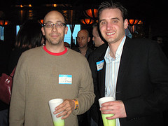 FeedBurner CEO Dick Costolo and Frank Gruber at TECH cocktail 4