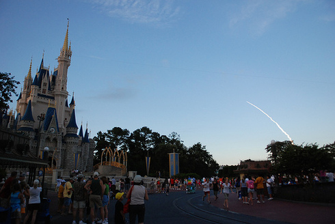 Space Shuttle Atlantis Launch from Walt Disney World Magic Kingdom by Josh Hallett