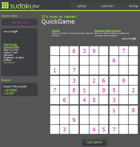 Sudokular screen-shot