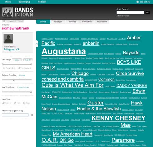 Bands In Town Screen-shot