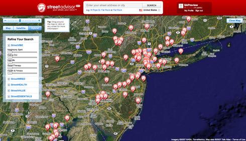 StreetAdvisor Coverage Map