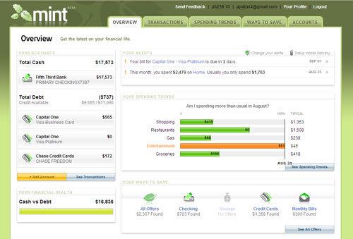 Mint Screen-shot summary