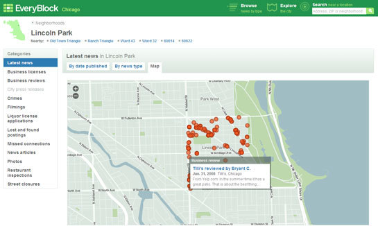 EveryBlock map view screen-shot
