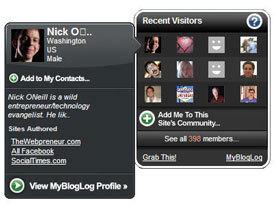 Glossy New MyBlogLog Widget