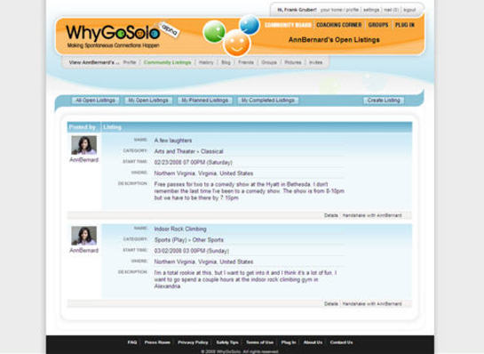 WhyGoSolo screen-shot