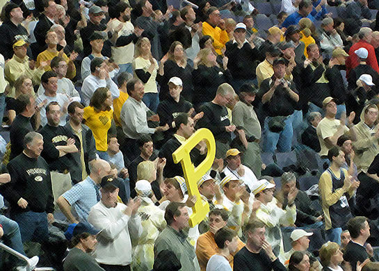 March Madness: Purdue Crowd at DC 2008 NCAA Men's Basketball Tourney