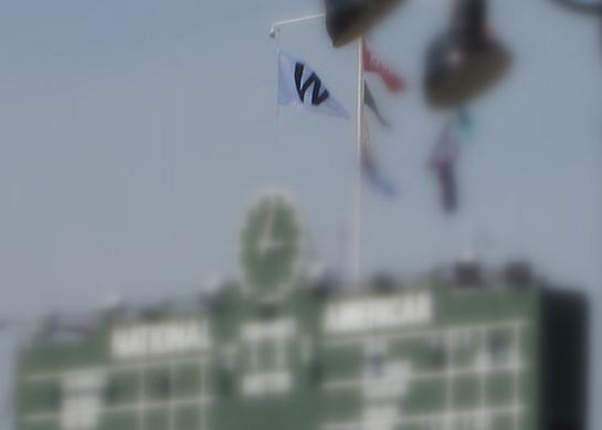 Wrigley Scoreboard W Flag