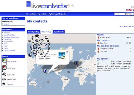 Livecontacts screen-shot