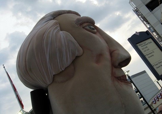 Big headed president