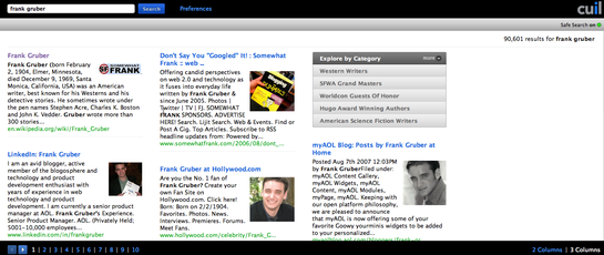Cuil Search Screen-Shot