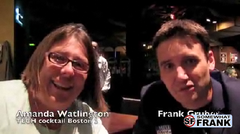 Amanda Watlington and Frank Gruber talk at TECH cocktail Boston 2
