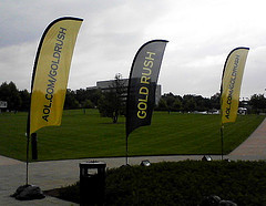 AOL Gold Rush Flags