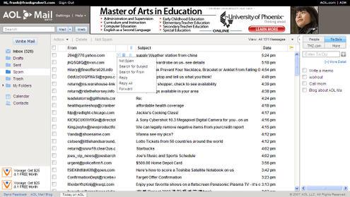 AOL Mail Beta Screen-shot