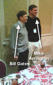Bill Gates and Mike Arrington at Mix 06