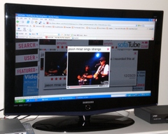 Watching videos with SofaTube on a LCD HDTV