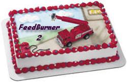 FeedBurner firetruck cake