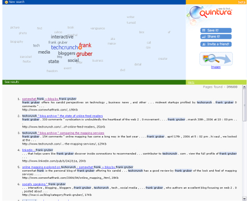 Quintura Web Search Screen-shot