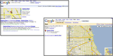 Google Search Results Screen-shot