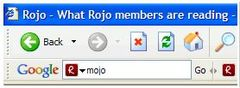 Rojo Community Search in Google Toolbar