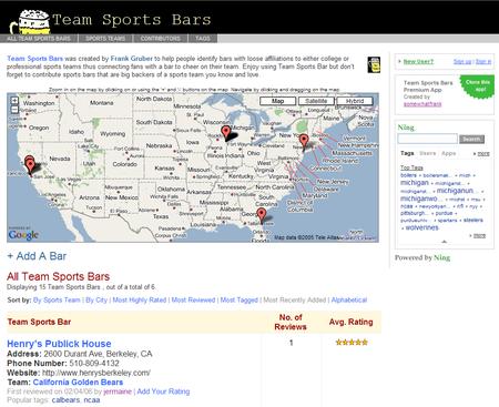Teamsportsbars Screenshot