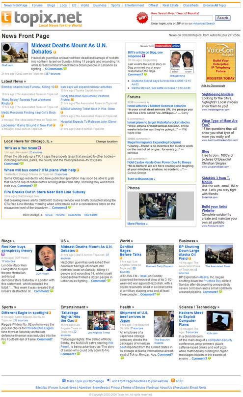Topix Homepage