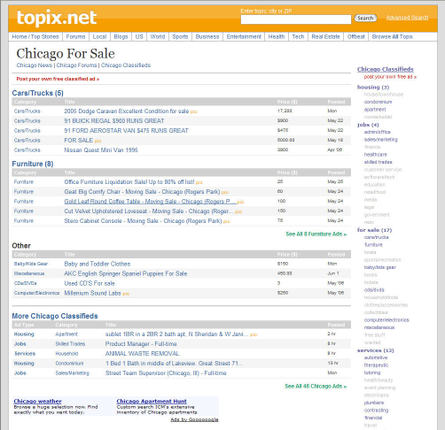 Topix.net Classified Ad System
