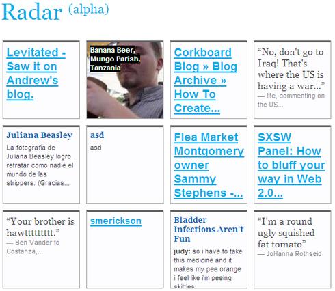 Tumblr radar screen-shot