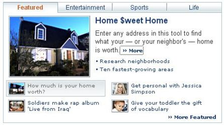 Yahoo Features Zillow