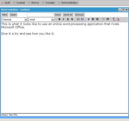 YouOS TextEditor Screen-shot
