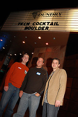 Eric Olson, David Cohen & Frank Gruber at TECH cocktail Boulder 1